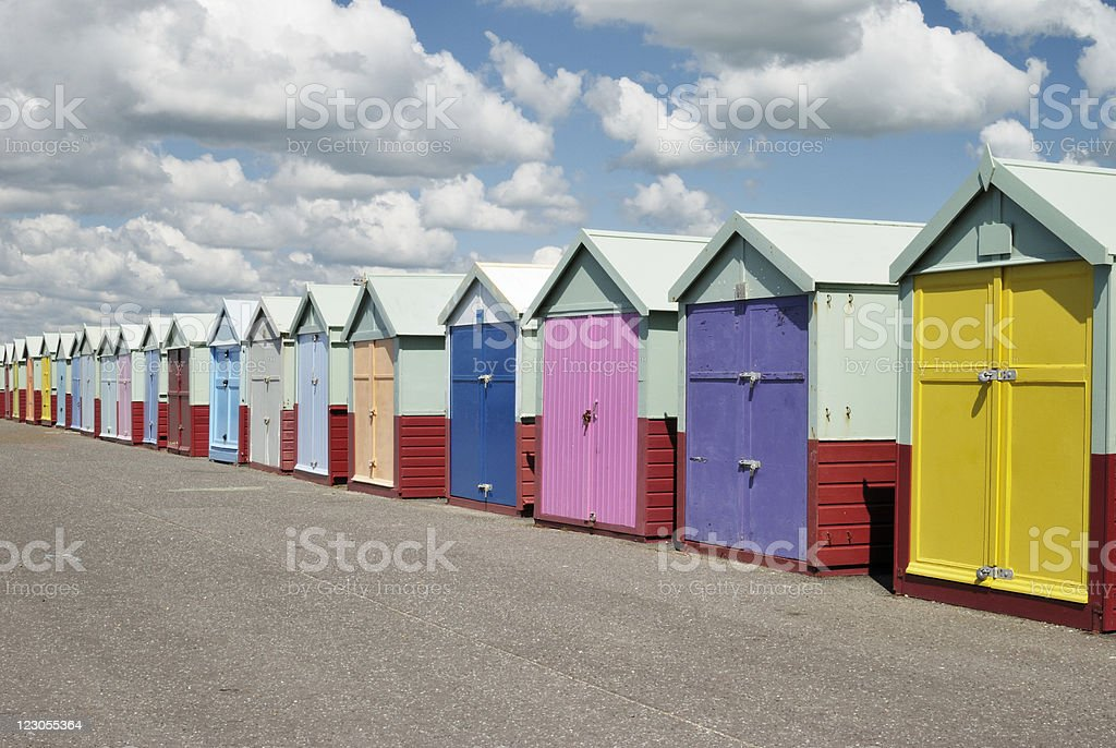 Beach huts. Hove. Sussex. England stock photo