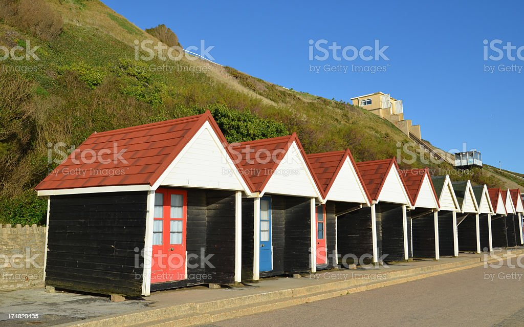 Beach Huts in Bournemouth royalty-free stock photo