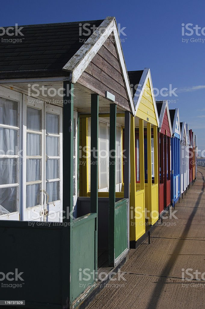 Beach Huts in Southwold Suffolk royalty-free stock photo