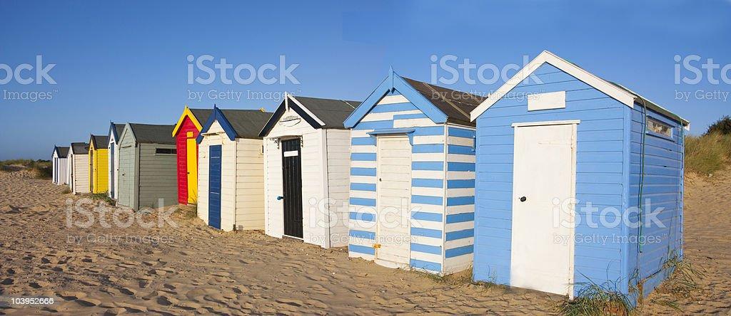 Strandhütten Lizenzfreies stock-foto