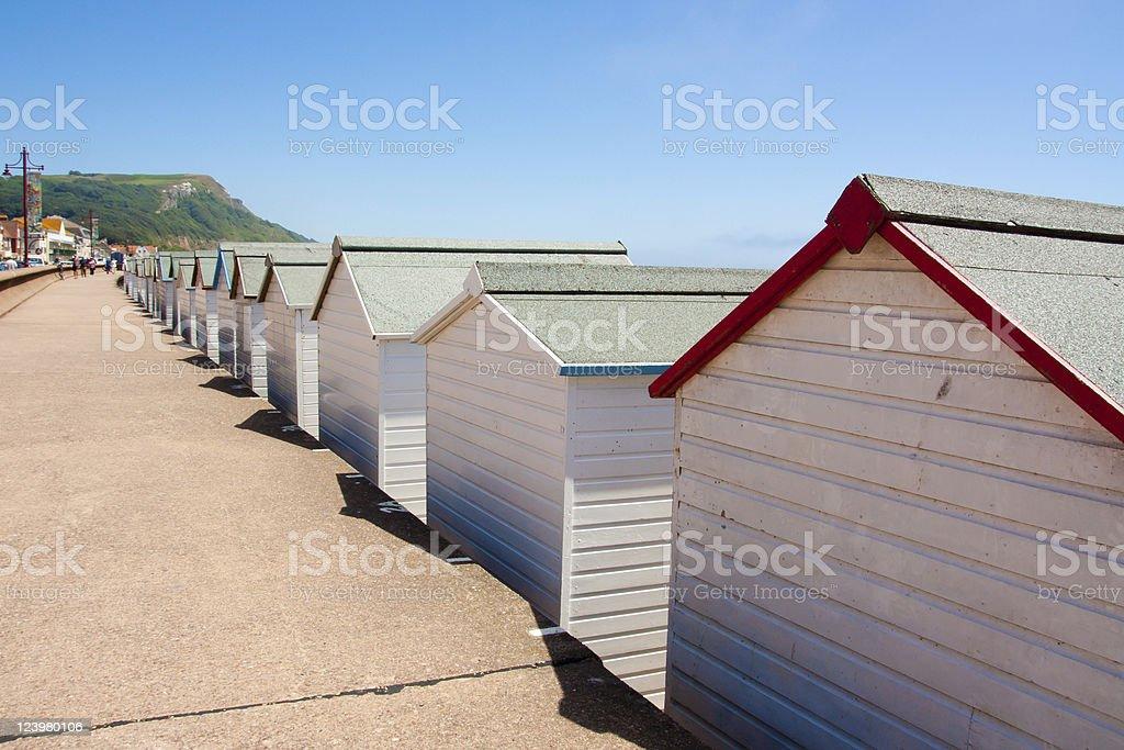 Cabanes de plage photo libre de droits