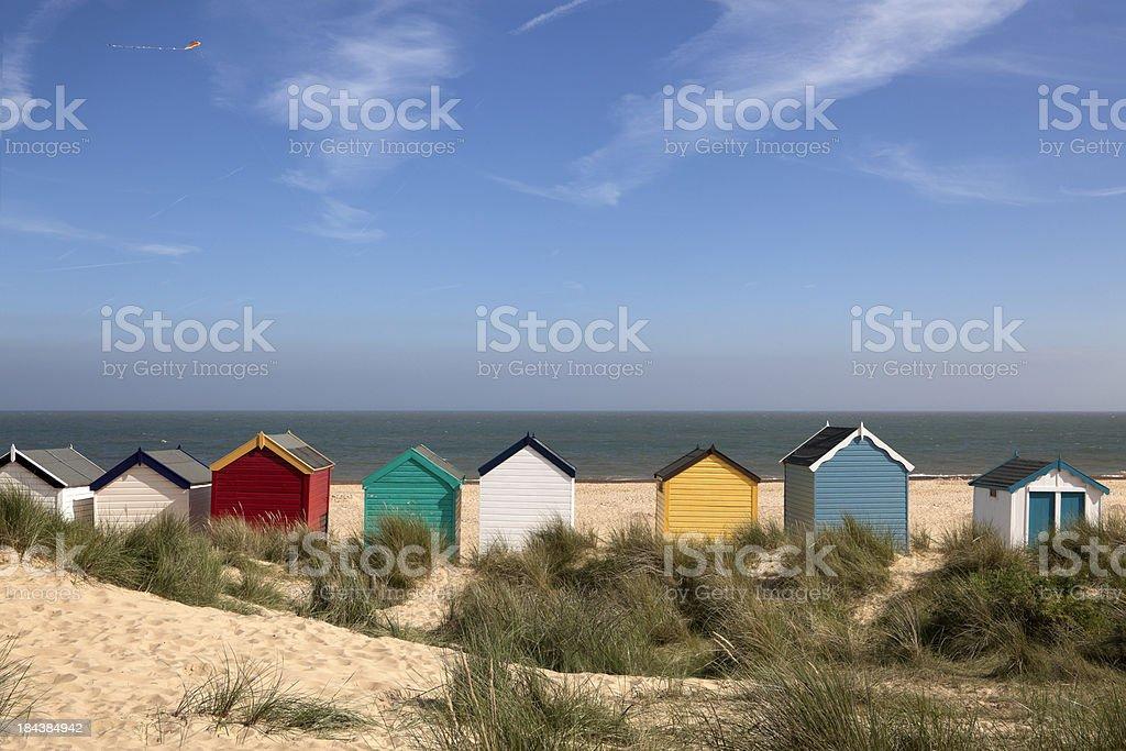 Beach Huts, Southwold, East Anglia (XXXL) royalty-free stock photo