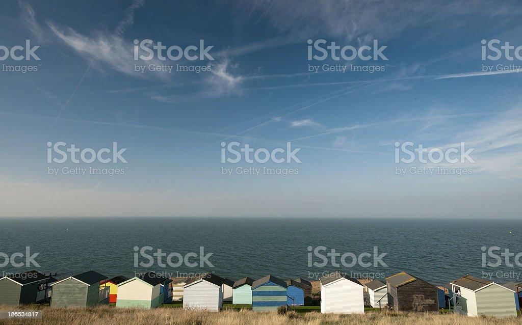 Beach huts , Whitstable stock photo