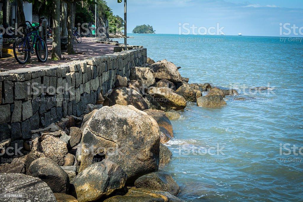 Beach Ilhabela in Brazil stock photo