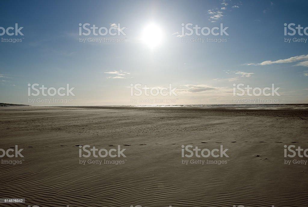 Beach impressions on the lake stock photo