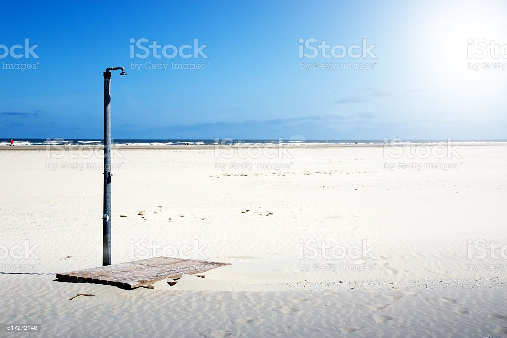 Beach impressions on the seaside stock photo