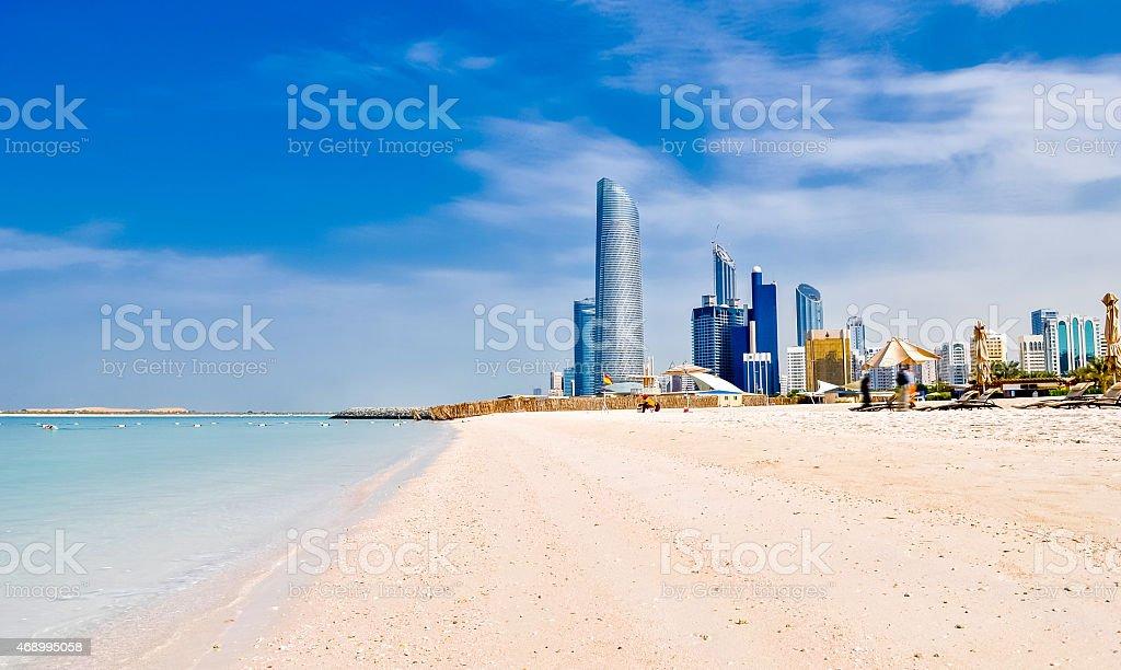 beach in Abu Dhabi, UAE stock photo