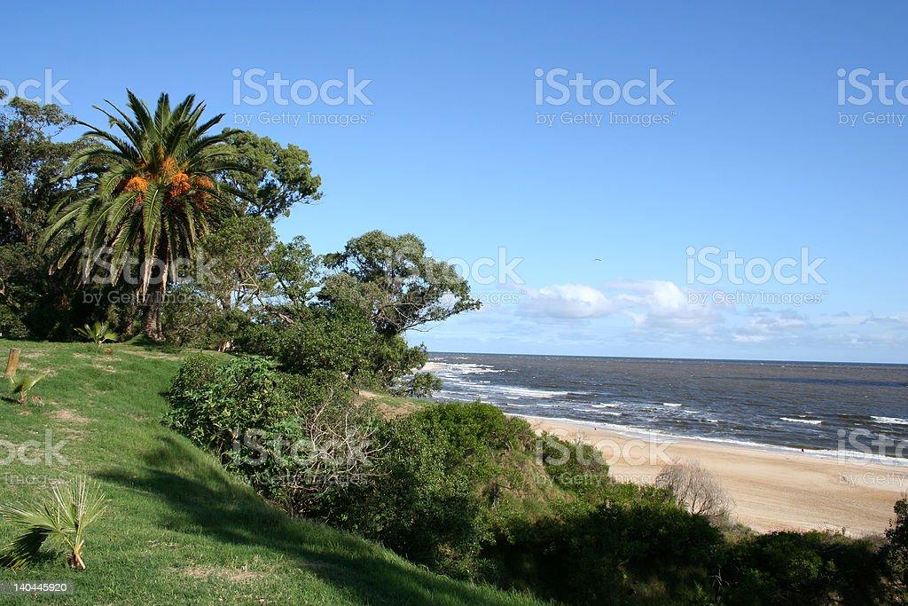 Beach in Atlantida stock photo