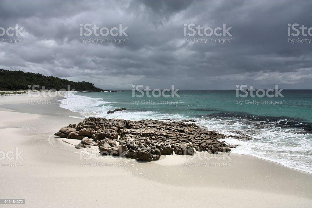 Beach in Australia stock photo