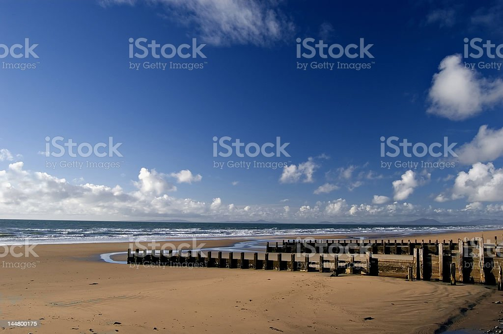 Beach in Barmouth. Wales stock photo
