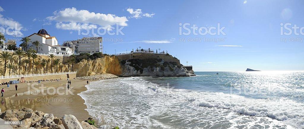 Strand in Benidorm - Spanien stock photo