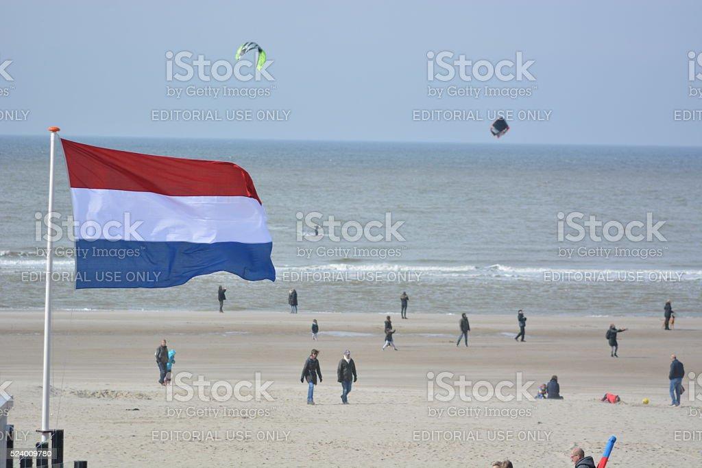 Beach in Bergen ann Zee, Netherlands, Noordholland stock photo