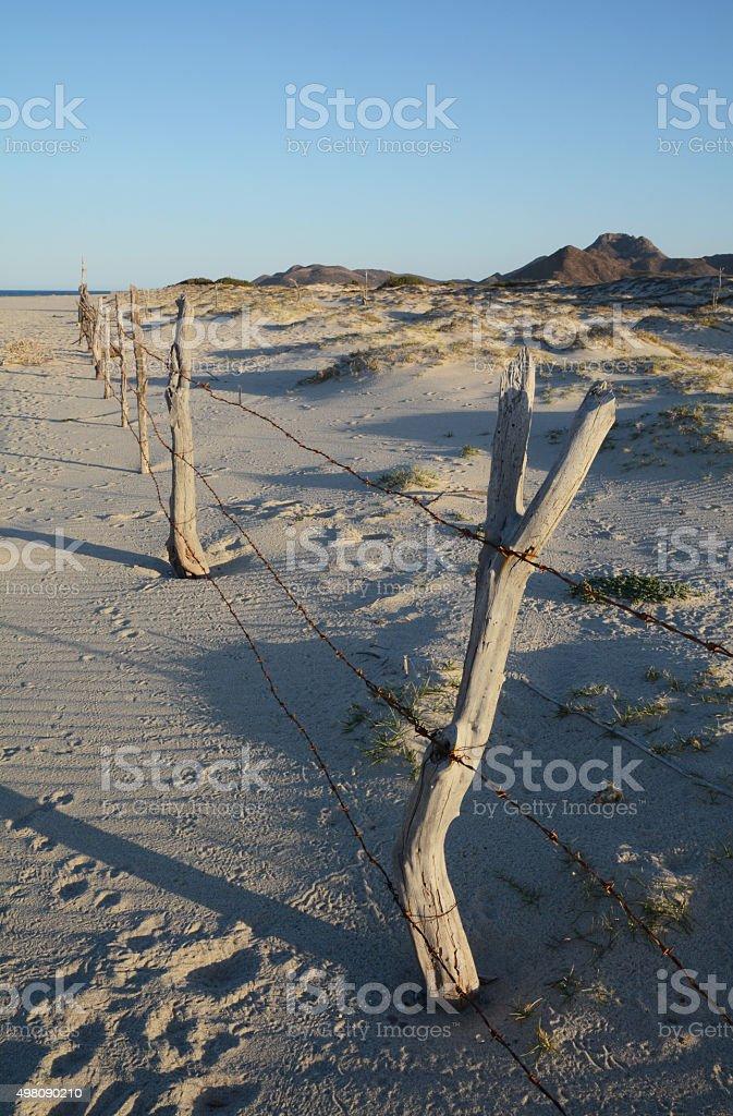 Beach in Cabo Pulmo, Baja California, Mexico royalty-free stock photo