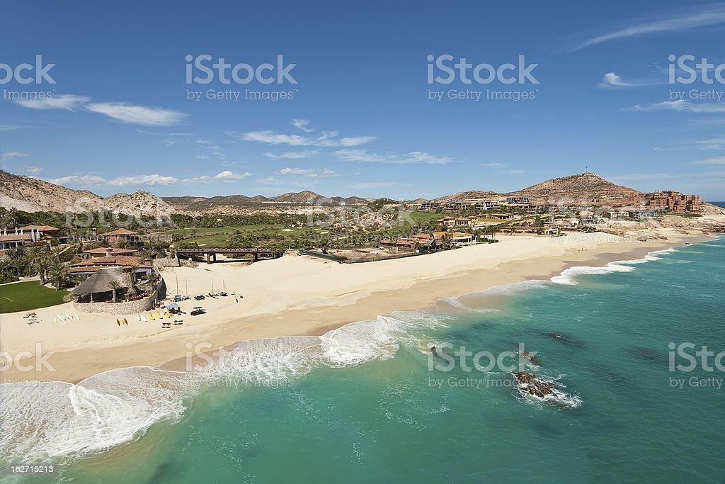 Beach in Cabo San Lucas, Mexico stock photo