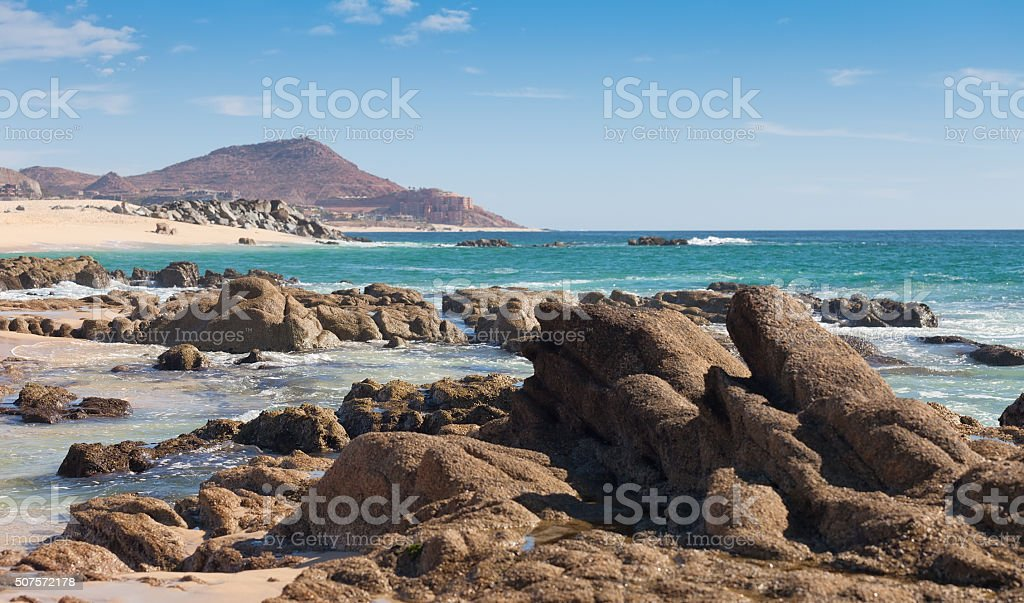 Beach in Cabo San Lucas, Mexico stock photo