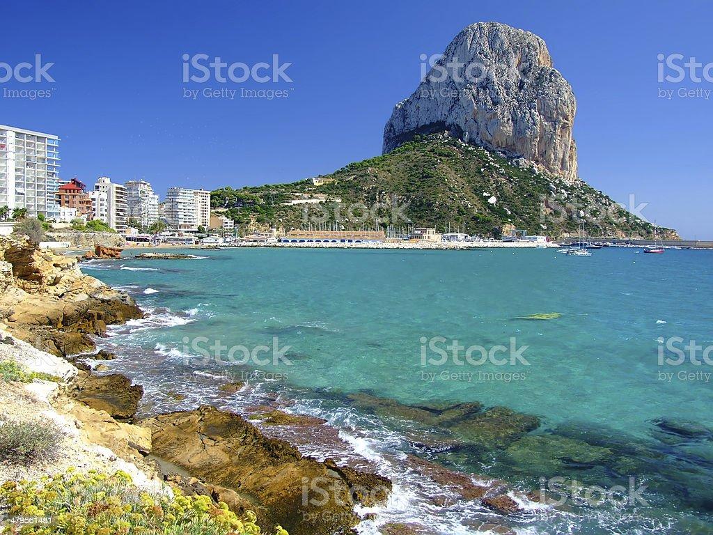 Beach in Calpe,Spain stock photo