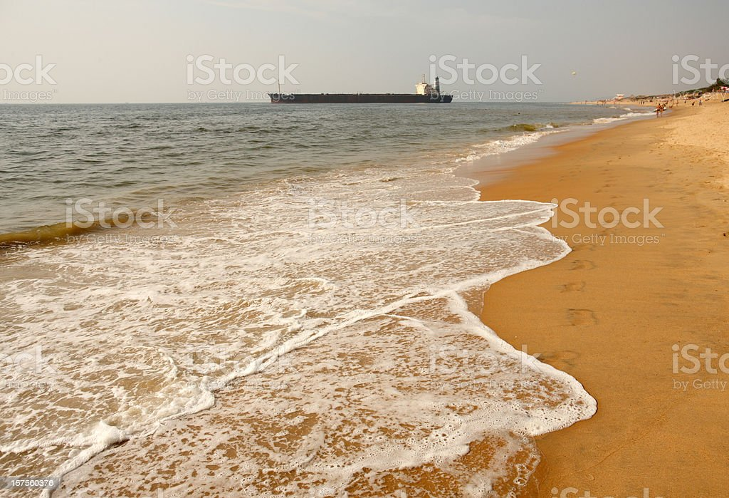 Beach in Candolim royalty-free stock photo