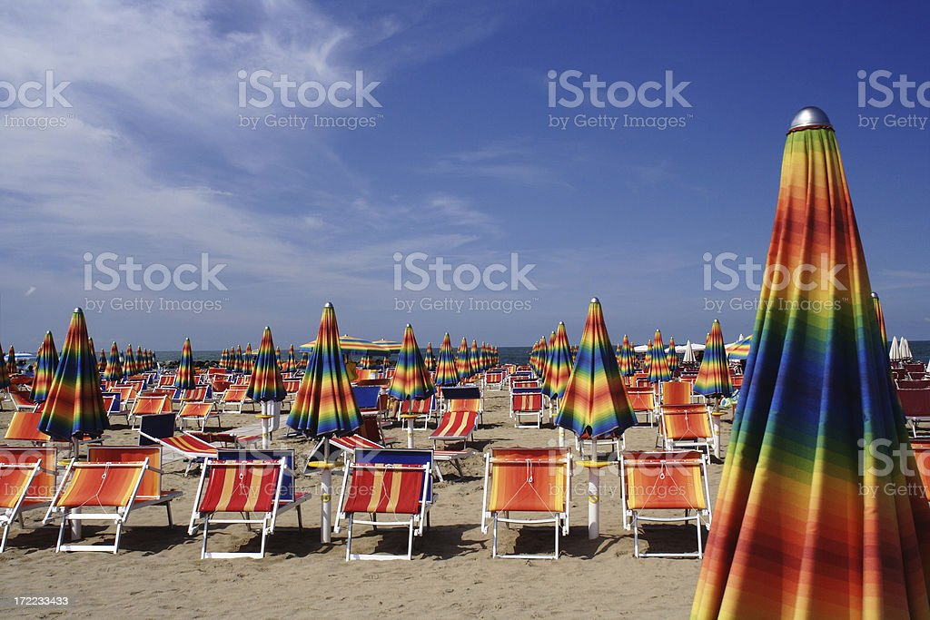Beach in Cattolica, Italy royalty-free stock photo