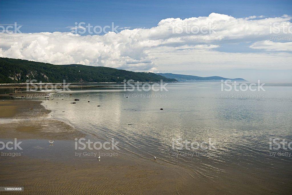 Beach in Charlevoix stock photo