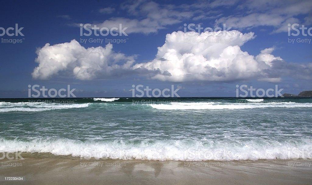 Beach in Cornwall England royalty-free stock photo