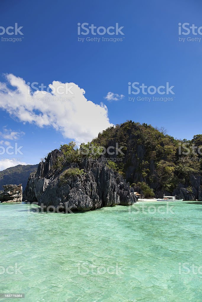 Beach in Coron island, Philippines stock photo