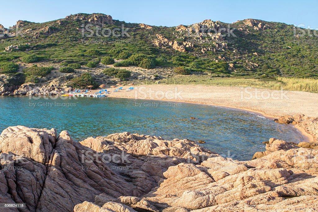 Beach in Costa Paradiso, Sardinia, Italy stock photo
