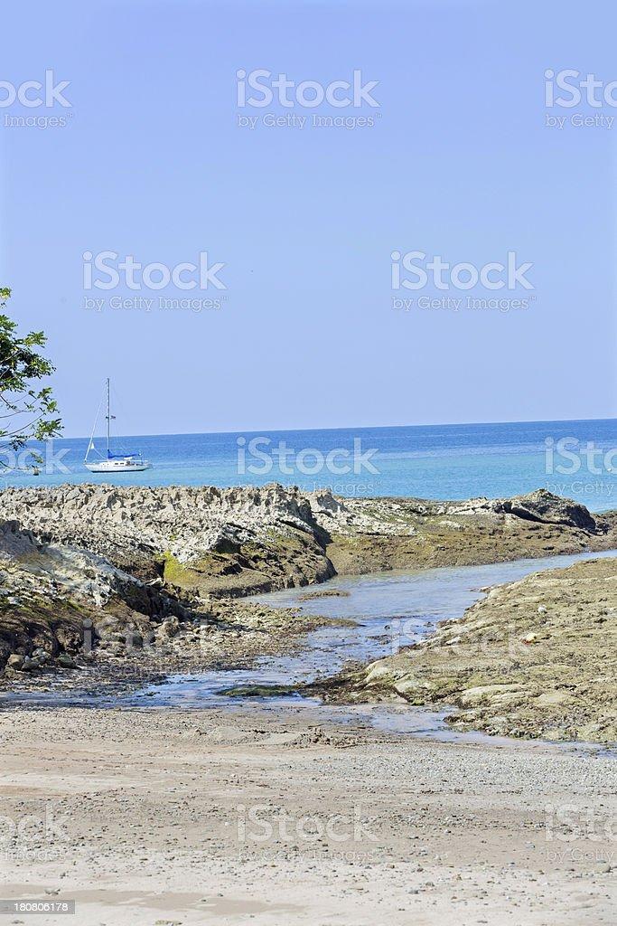 Beach in costa Rica royalty-free stock photo