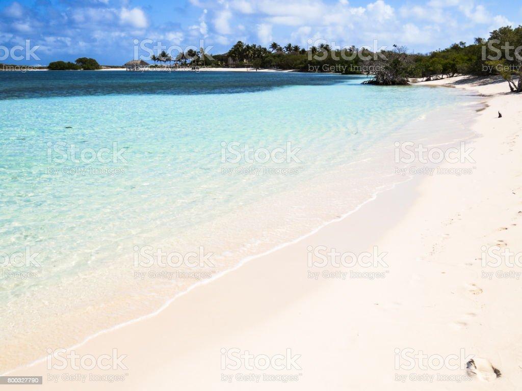 Beach in Cuba stock photo