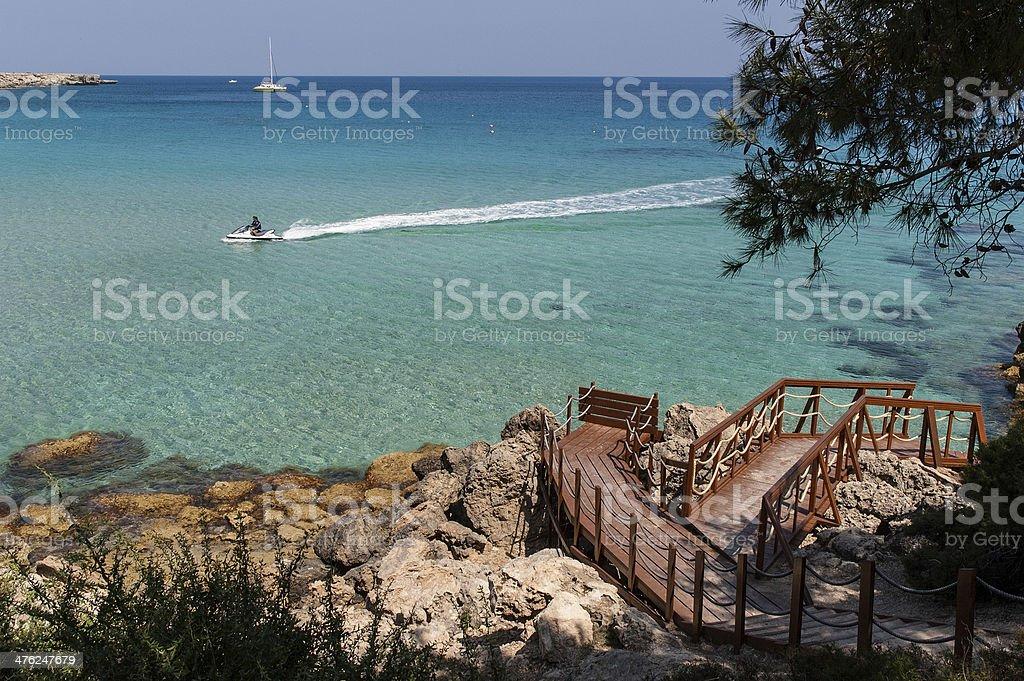 Beach in Cyprus stock photo