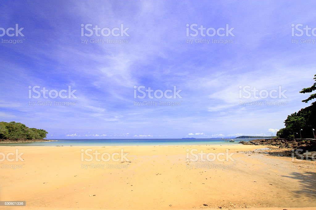 beach in daytime on Koh Kood island in Trat, Thailand stock photo