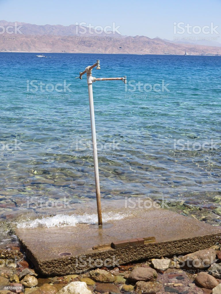 beach in Eilat stock photo
