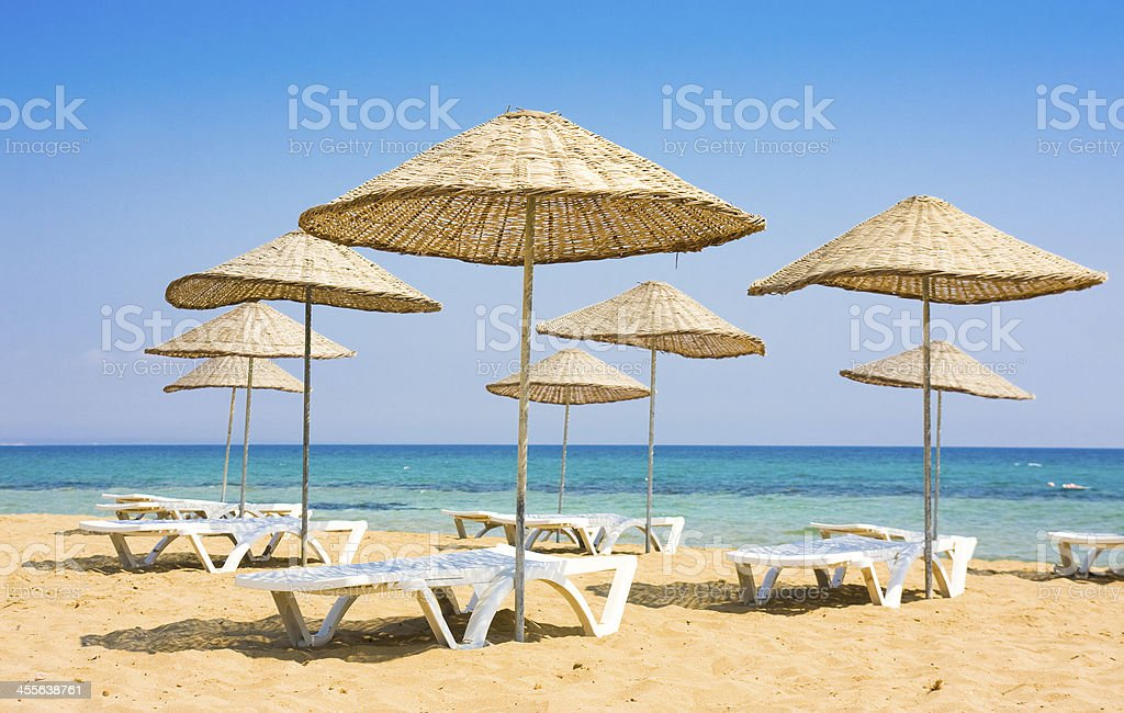 Beach in Famagusta, Cyprus royalty-free stock photo