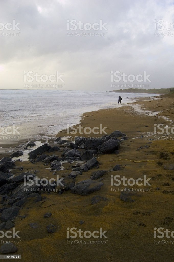 Beach in Fanore. Ireland royalty-free stock photo