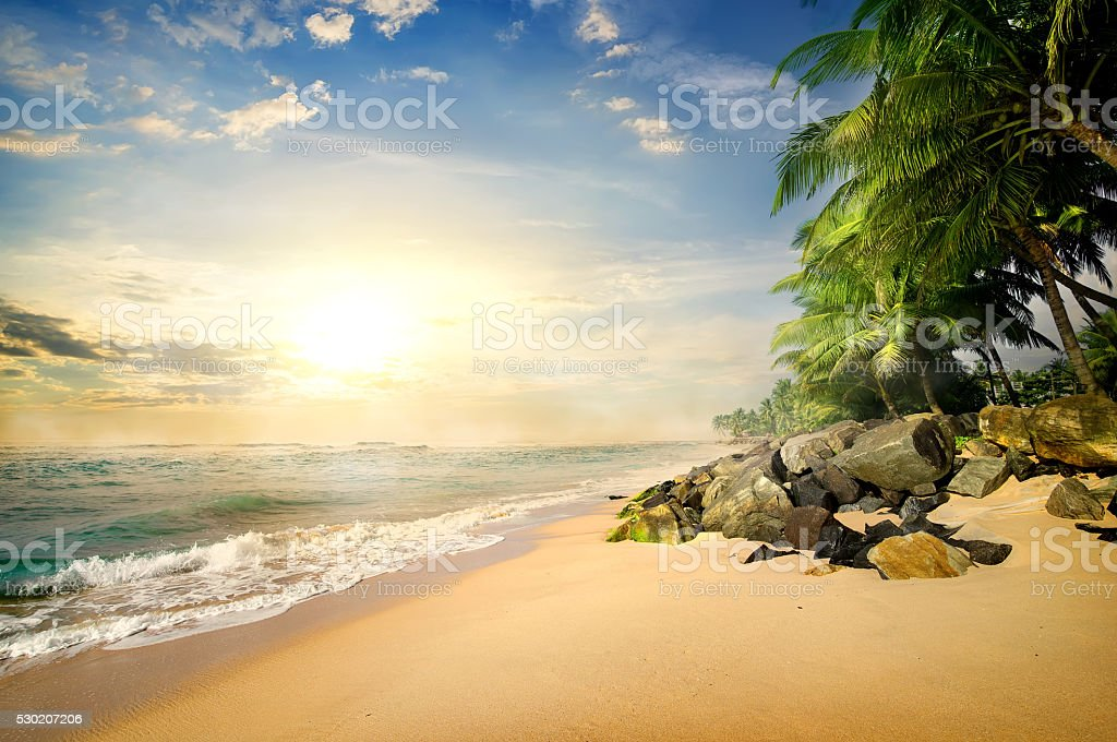 Beach in Galle stock photo