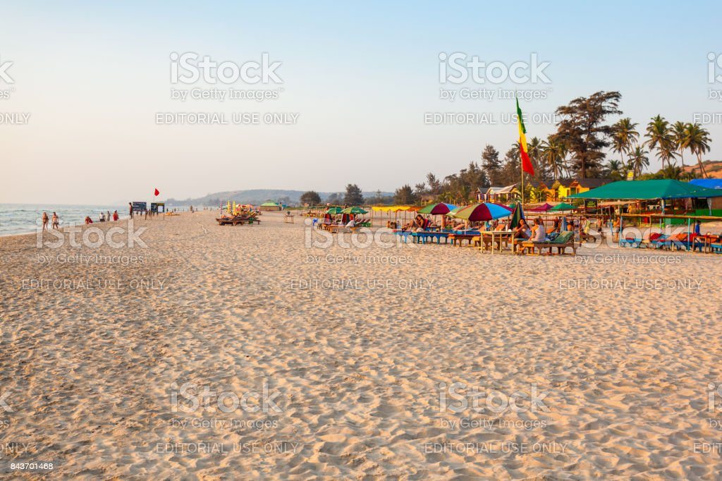 Beach in Goa, India stock photo