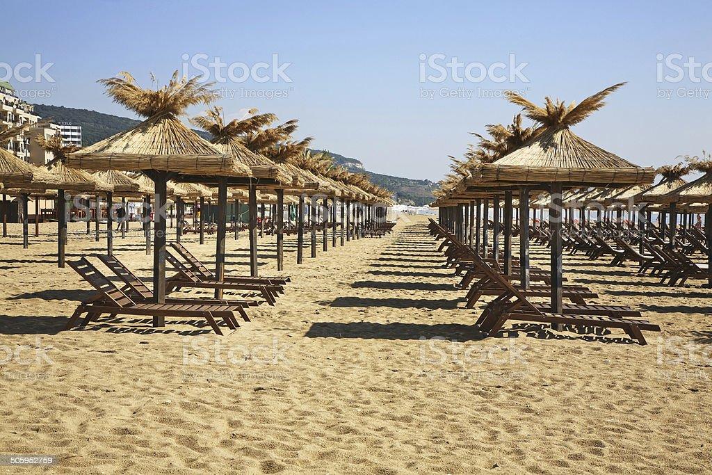 Beach in  Golden Sands. Bulgaria stock photo