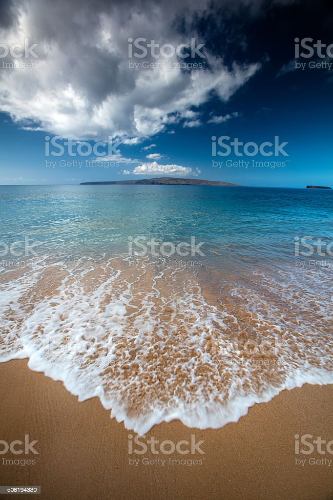 Beach in Hawaii stock photo