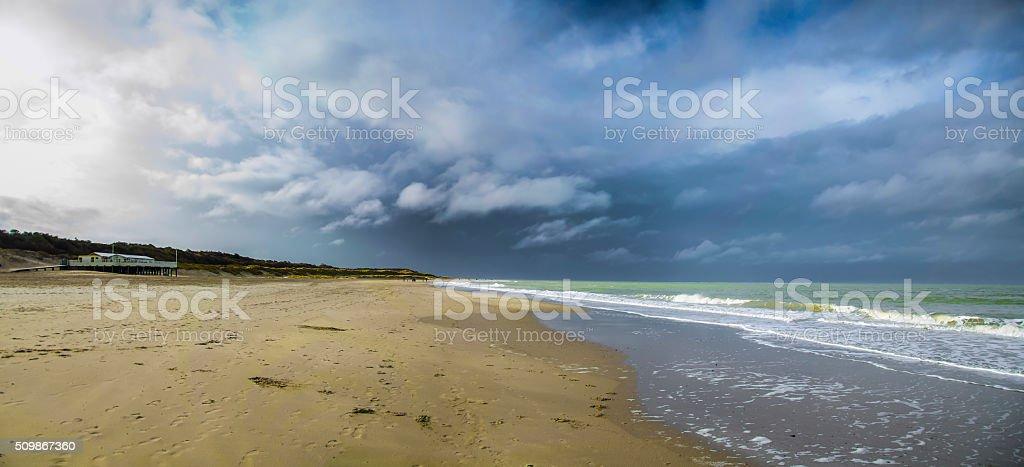 Beach in Holland stock photo