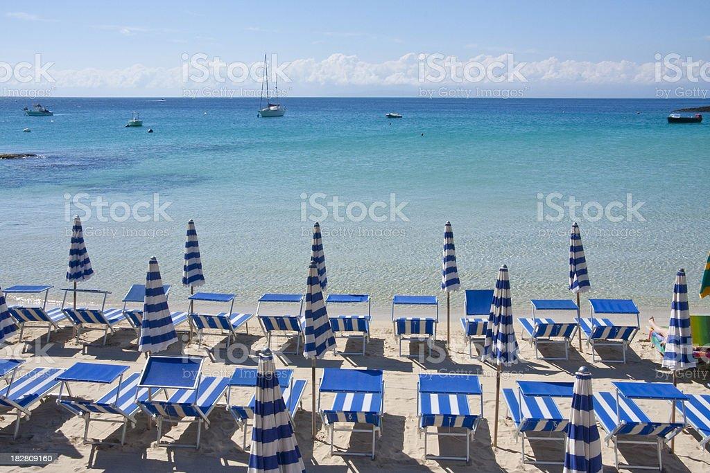 Beach in Italy stock photo