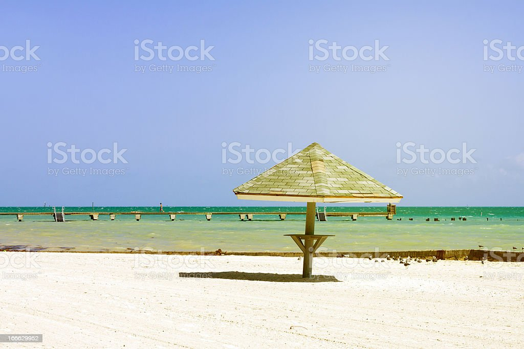 Beach in Key West royalty-free stock photo
