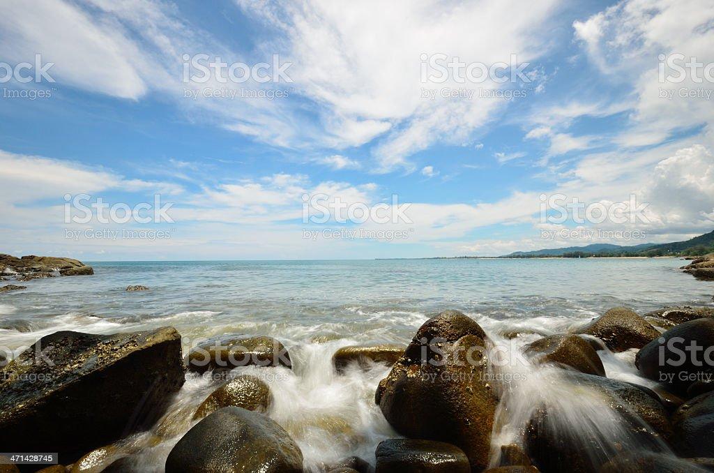Beach in Khao Lak - Lam Ru  National park royalty-free stock photo