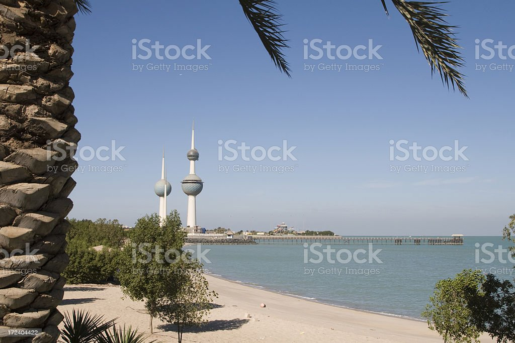 Beach in Kuwait royalty-free stock photo
