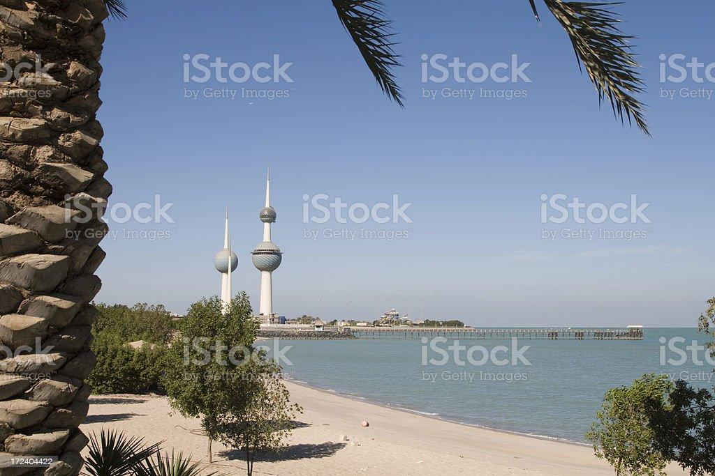 Beach in Kuwait stock photo