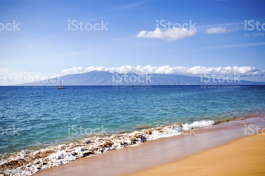 Beach in Lahaina stock photo