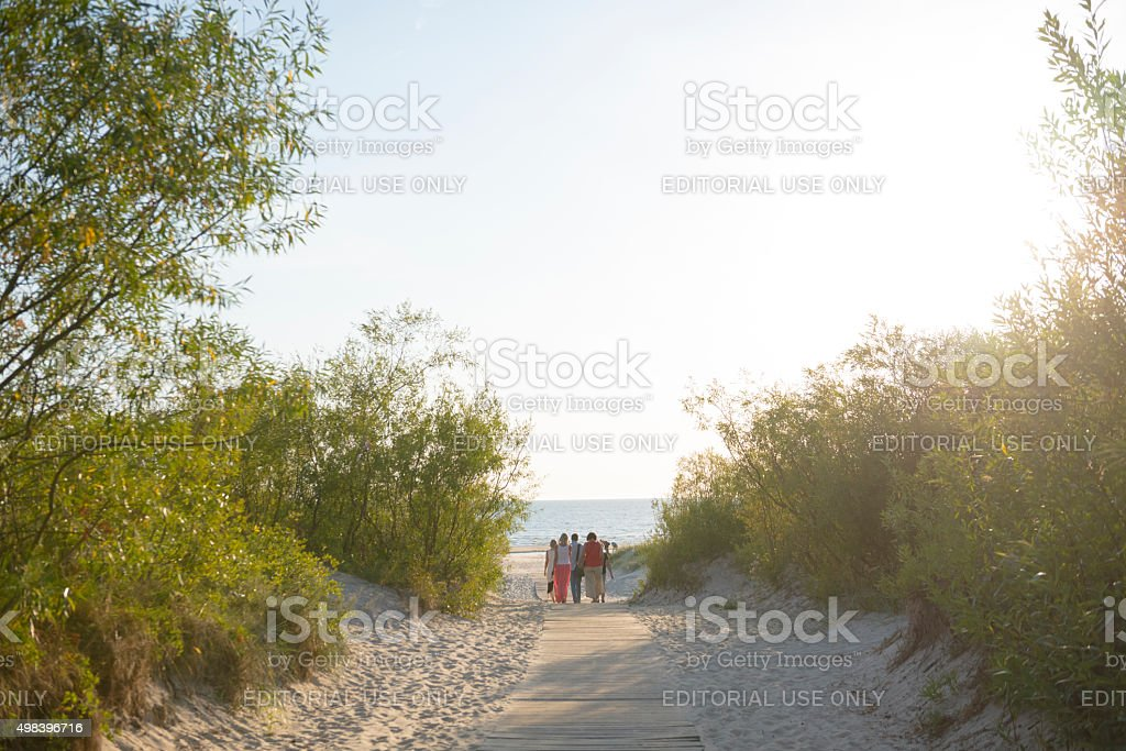 Beach in Liepaja, Latvia stock photo
