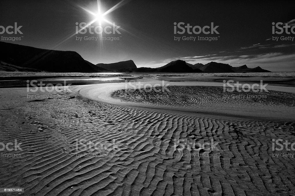 Beach in Lofoten, Norway stock photo