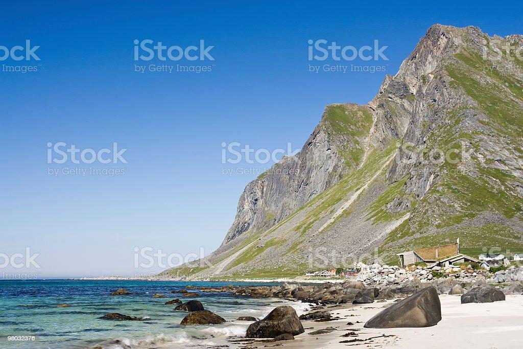 Beach in Lofoten royalty-free stock photo