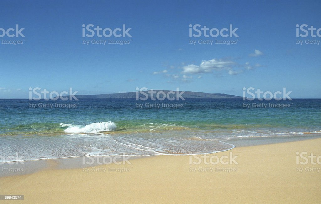 Beach in Maui, Hawaii royalty-free stock photo
