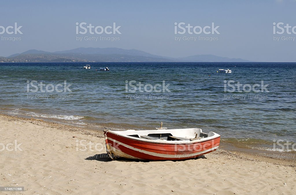 beach in Metamorfosi - Sithonia stock photo
