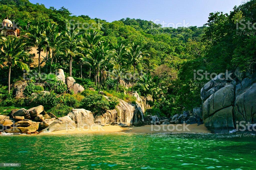 Beach in Mexico stock photo